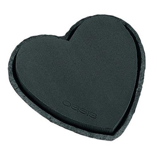 Steekschuim hart zwart 33cm 2st huwelijksdecoratie