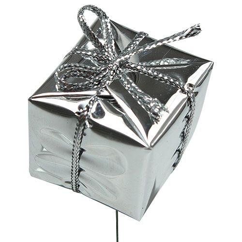Pakket op de draad zilver 2,5 cm 60 stks
