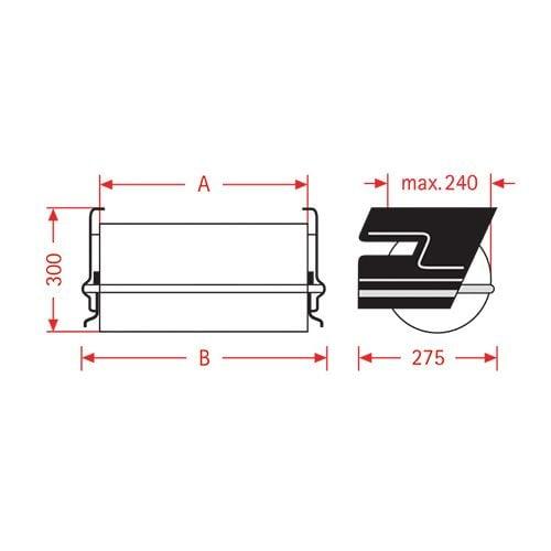 Papieren folie onder tafeldispenser ZAC 50cm