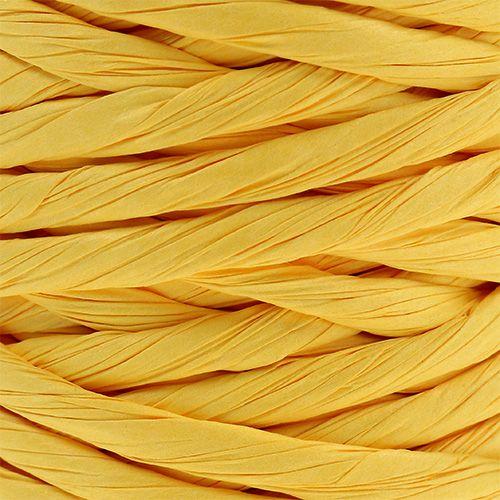 Papiersnoer 6 mm 23 m geel