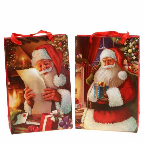 Gift bags set kerstmotief kerstrood 20cm × 30cm × 8cm