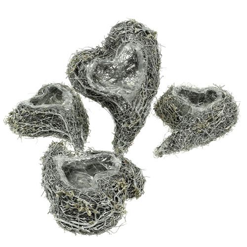 Plant hart wijnstok 15cm x 23cm x5cm wit 4st