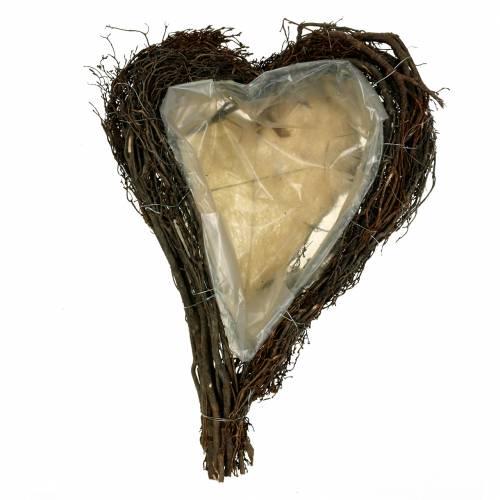 Plant hart takken natuur 40cm x 30cm