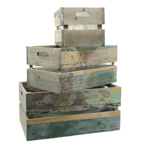 Planter houten kist 45/39 / 34,5 cm 3 stks