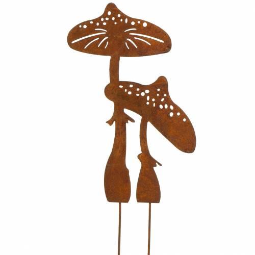 Tuinplug paddenstoel paar Edelrost H49.5cm
