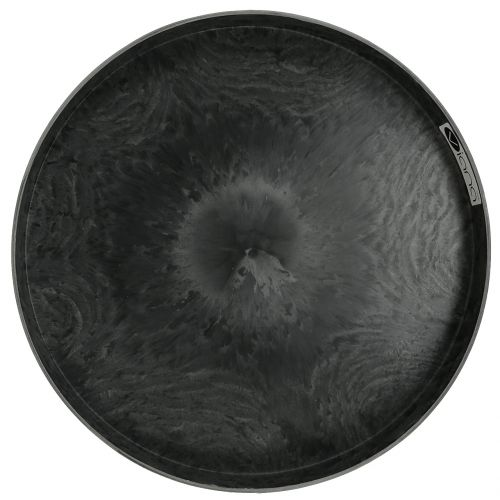 Kunststof borden set van 2 grijs Ø22cm - 27cm
