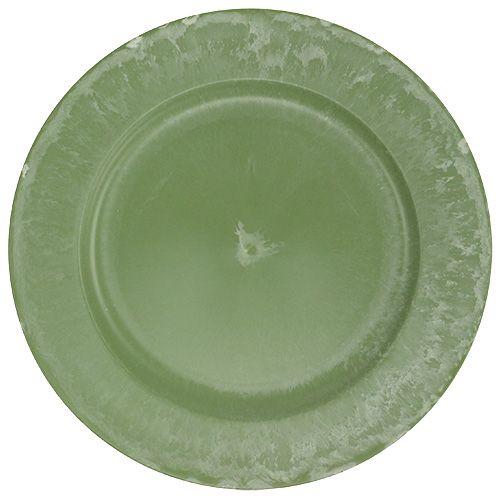 Serviceplaat groen Ø25cm