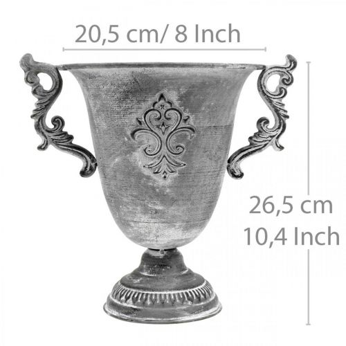 Beker grijs Ø20,5cm H26,5cm
