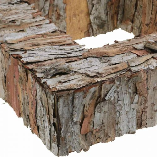 Deco boomschors vierkant open pijnboomschors herfstdecoratie 30×30cm