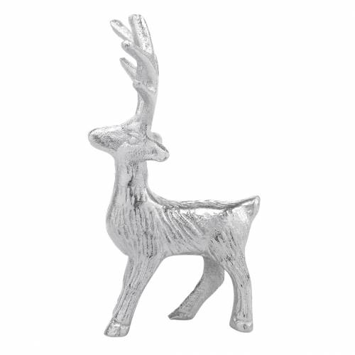 Decoratief rendier zilver metaal 6.5 × H12.5cm 3st
