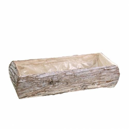 Plantenbak hout gewassen wit 34 × 17cm H9cm