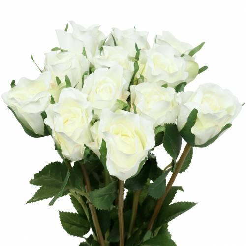 Rose wit 42cm 12st