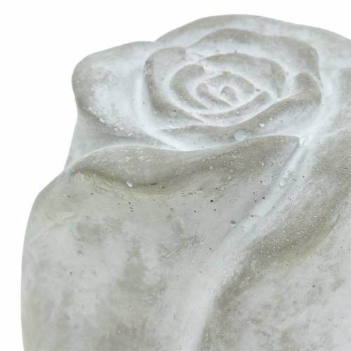 Grafdecoratie roos grafdecoratie beton H10cm 4st