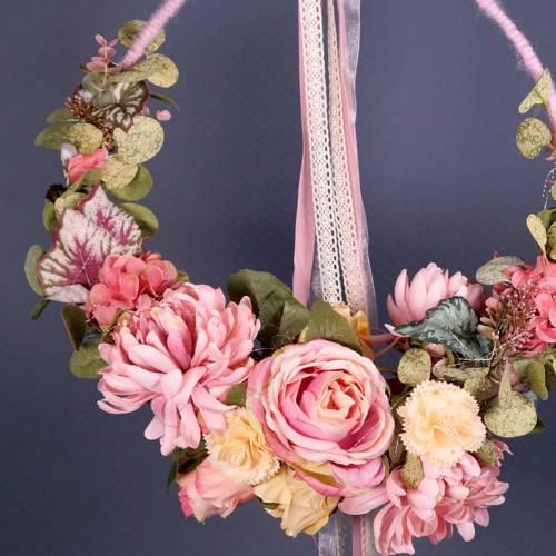 Decoratieve roos Ø6cm schemerig roze L50cm 1 st