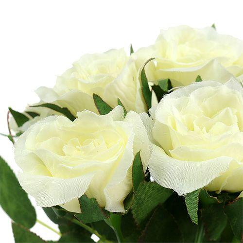 Boeketten van rozen wit L26cm 3st