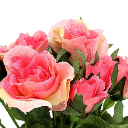 Roze boeket in roze L26cm 3st