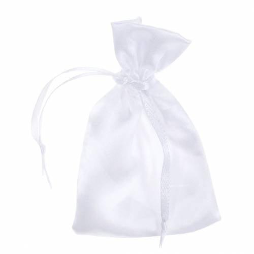 Satijnen zakjes wit 6.5 × 10cm 10st