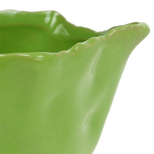 Keramische kom in groen Ø13cm H6cm