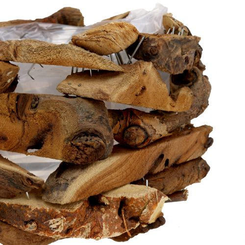 Kom hout stukken naturel Ø28cm H16cm