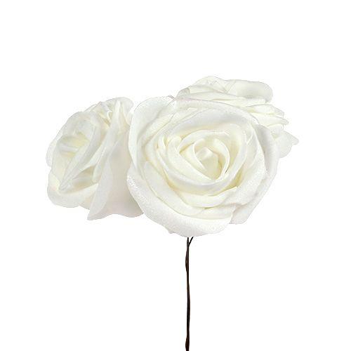 Foamrozen wit met parelmoer Ø6cm 24st
