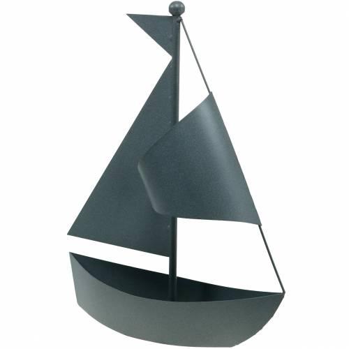 Zeilboot voor het planten van metaal 44cm × 34cm