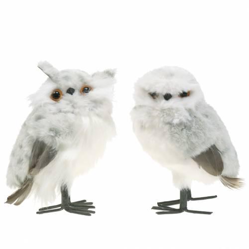 Sneeuwuilen wit 15cm 2st