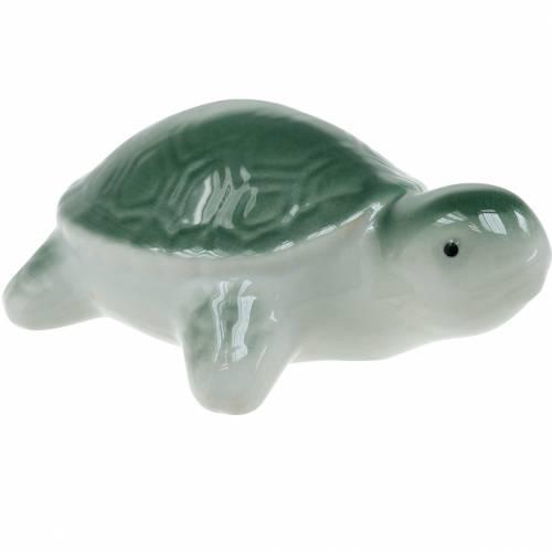 Drijvende keramiek schildpad groen 11,5 cm 1st
