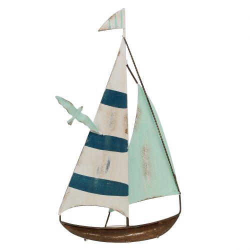 Zeilboot metaal 15cm x 28cm