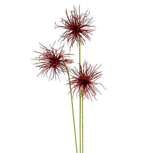 Zijden bloemen Xanthium Bordeaux 64cm 4st