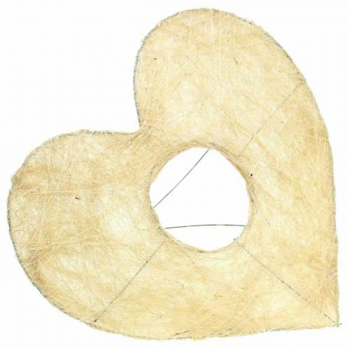 Sisal manchet hart gebleekt 25.5cm 10st