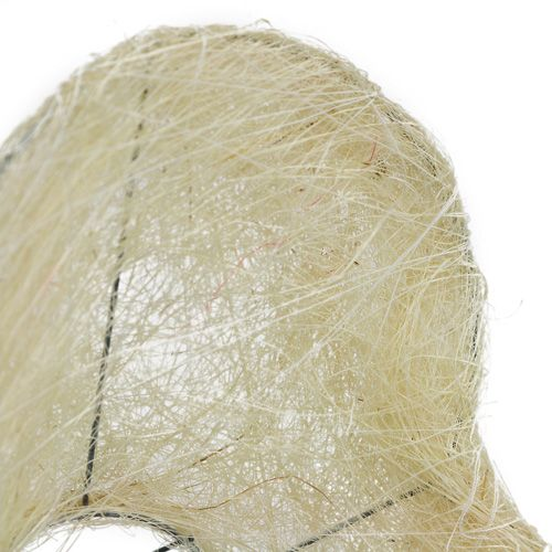 Sisal manchet gebleekt hart 27cm 1p