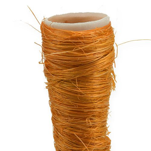 Sisal puntvaas oranje Ø1.5cm L15cm 20st