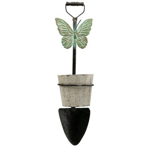 Decoratieve spade om op te hangen met plantenpot 57,5 cm