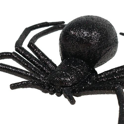 Zwarte spin 16cm met mica