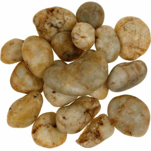 Rivierkiezels naturel crème 3-5cm 1kg