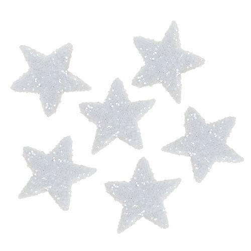 Ster glitter 1,5cm om wit te strooien 144st