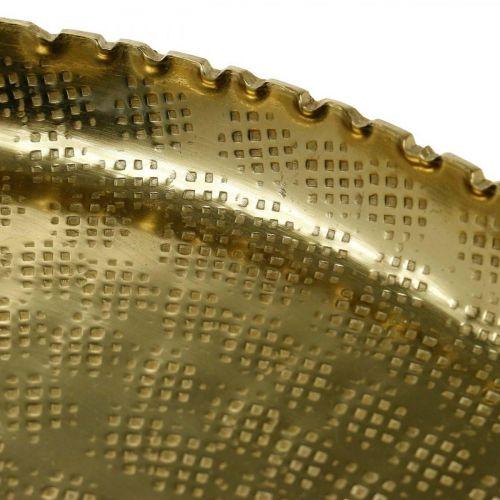 Decoratief dienblad, metalen plaat oosters, tafeldecoratie Ø25cm
