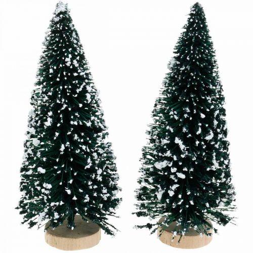 Sierspar met sneeuw, Kerstdecoratie, Advent H13cm Ø5,5cm 2st