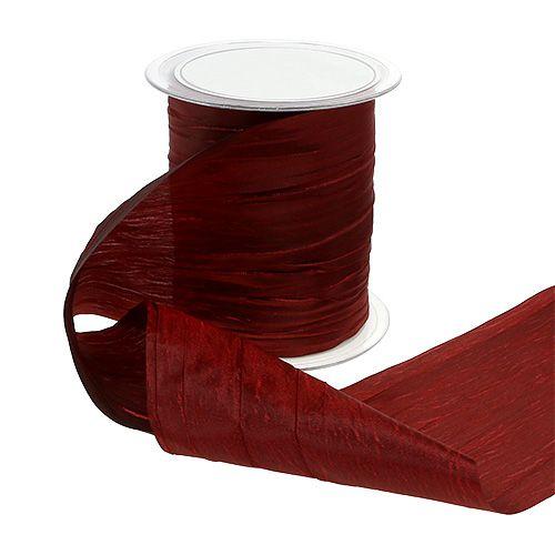 Tafelband Bordeaux Crash 100mm 15m