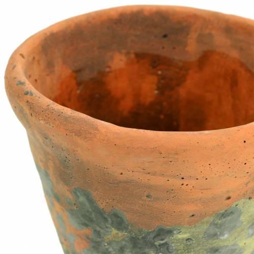 Plantpot plantenbak vintage natuurlijke klei Ø11.5cm H9cm 3st