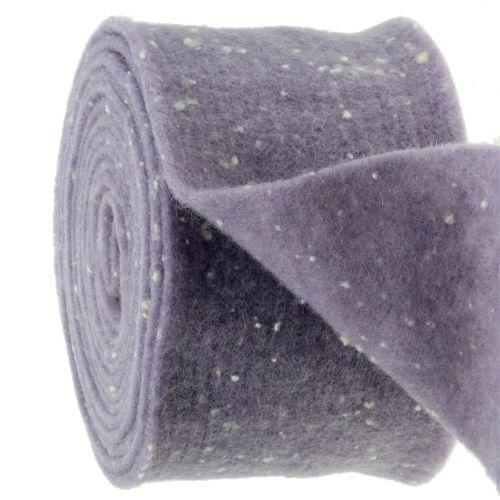 Pot tape vilt tape paars met stippen 15cm x 5m