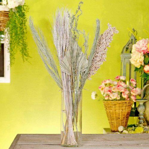 Gedroogde bloemen exotische wit-natuur mix, droge flora mix