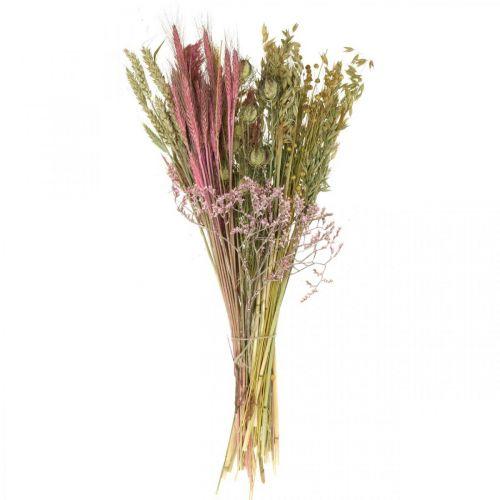 Droogbloemen DIY set voor boeket roze droogbloemen 60cm