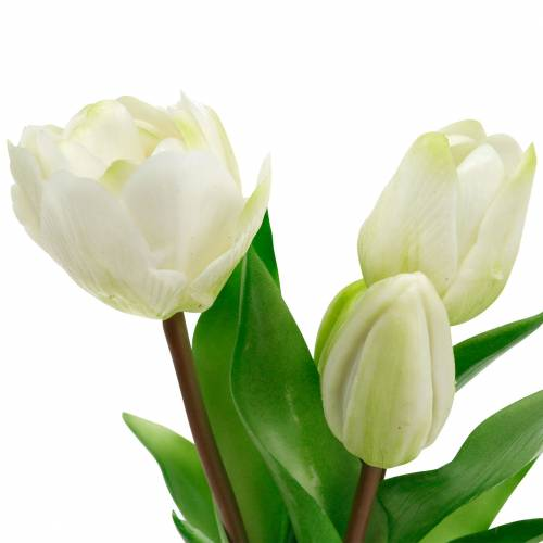 Kunst tulpenboeket, zijden bloemen, tulpen Real Touch White