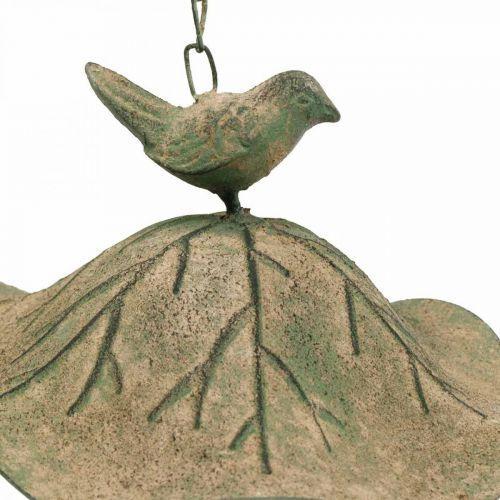 Vogelbad hangend metaal vogelbad tuin antiek look H28cm