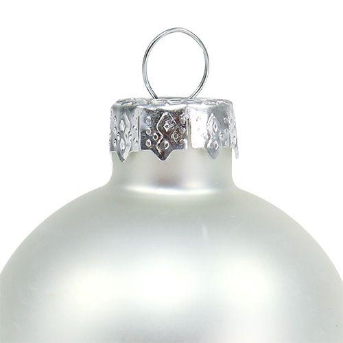 Kerstbal Ø4cm zilver glanzend / mat 24st