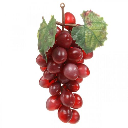Decoratieve druiven rood Kunstdruiven decoratief fruit 15cm