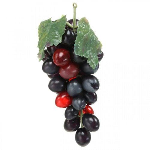 Decoratief druif zwart Decoratief fruit Kunstdruiven 15cm