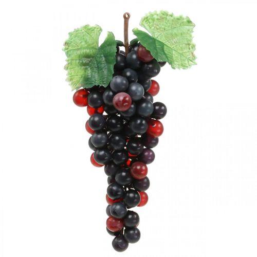 Deco druif zwart kunstfruit winkel raamdecoratie 22cm