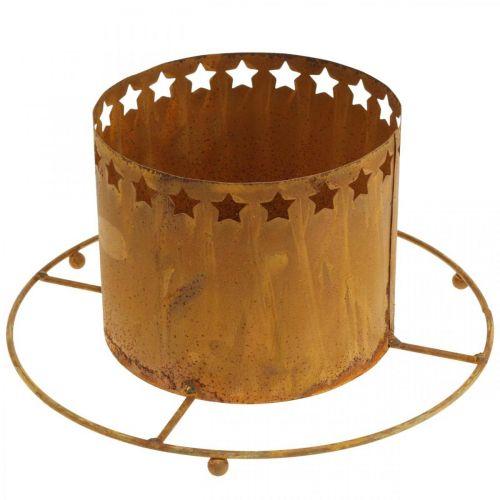 Lantaarn met sterren, Advent, kranshouder van metaal, Kerstdecoratie RVS Ø25cm